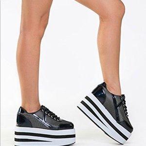 YRU Karazii Mesh Platform Sneakers